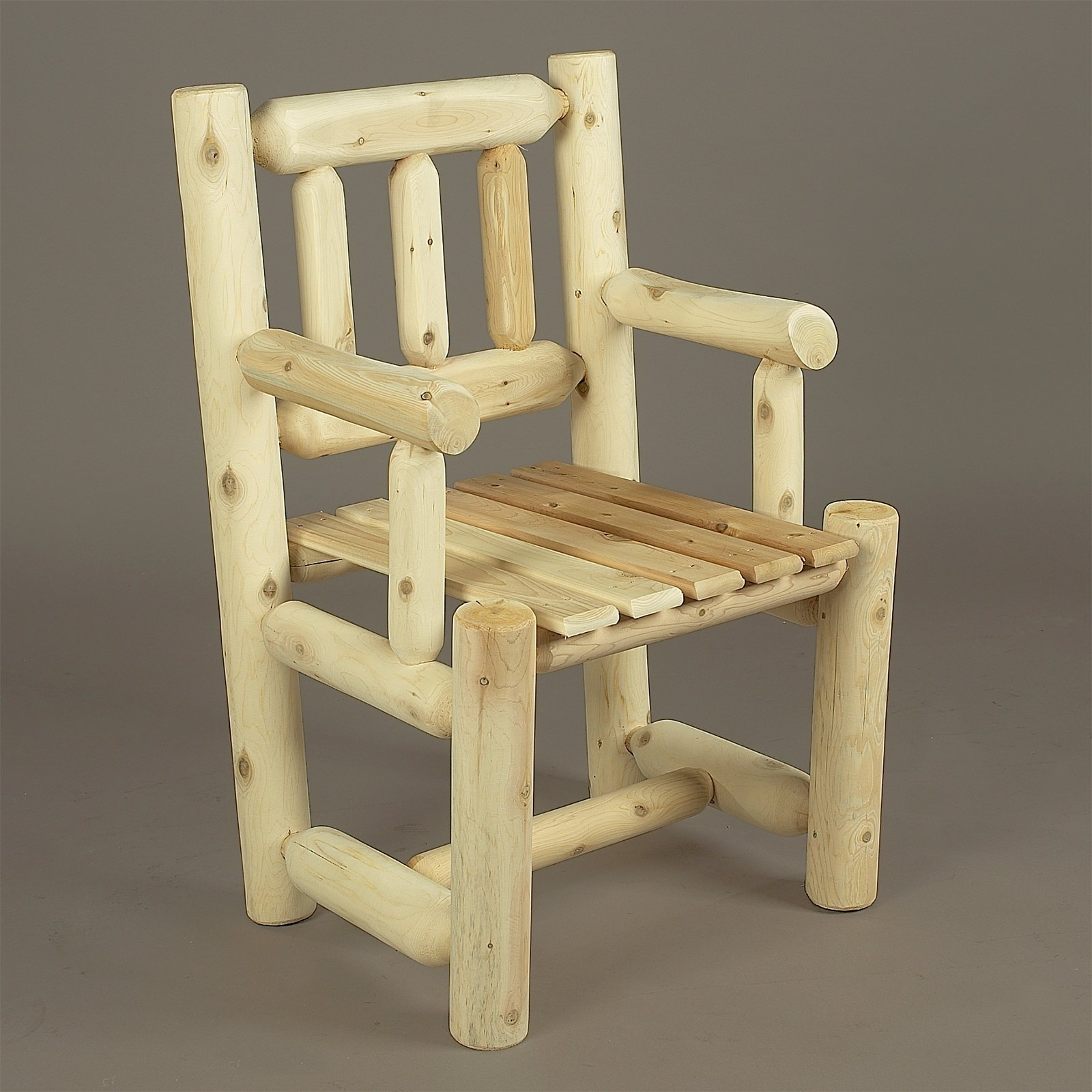 Rustic Natural Cedar Furniture Old Country Captains Chair
