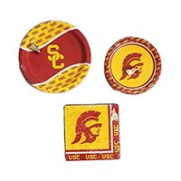 University of Southern California USC Trojans Party Bundle 9' Plates (8) 7' Plates (8) Napkins (20)