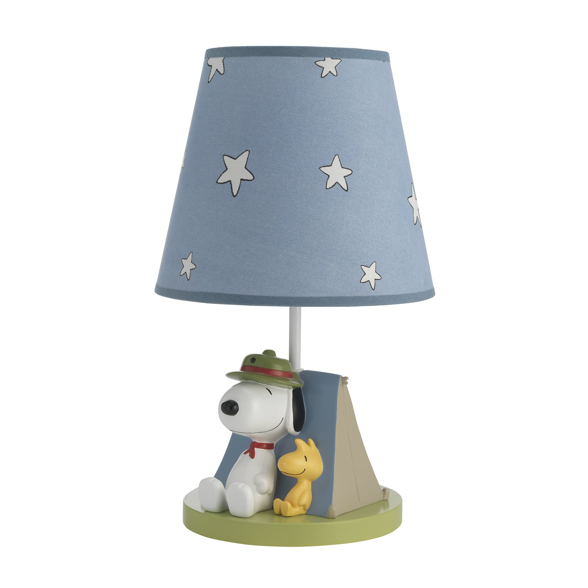 Lambs & Ivy Snoopy's Campout Lamp with Shade & Bulb Blue, Beige, Green by Lambs & Ivy