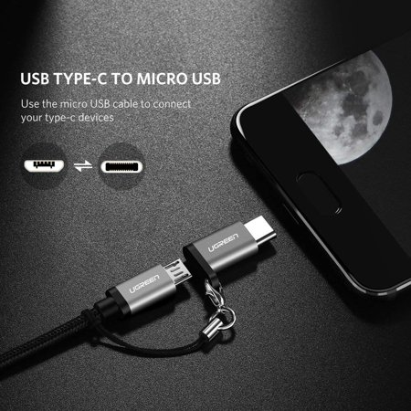 UGREEN Micro USB C Adapter Type C Charger Converter with Keychain Connector - image 1 de 6