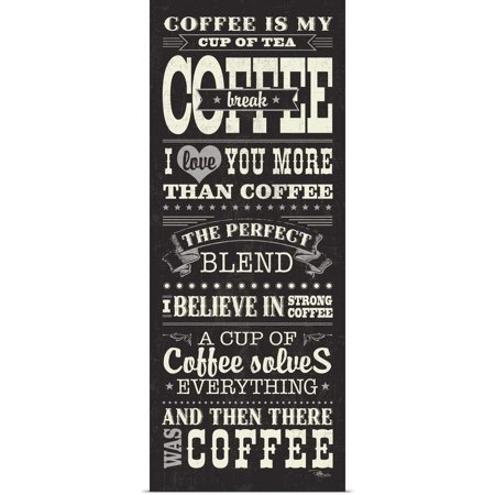 Great BIG Canvas | Rolled Pela Studio Poster Print entitled Coffee Lovers I ()