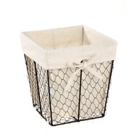 Homezone Square Wire Basket with Liner, 1 Each