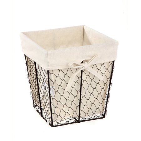Basket Liner Patterns - Homezone Square Wire Basket with Liner, 1 Each