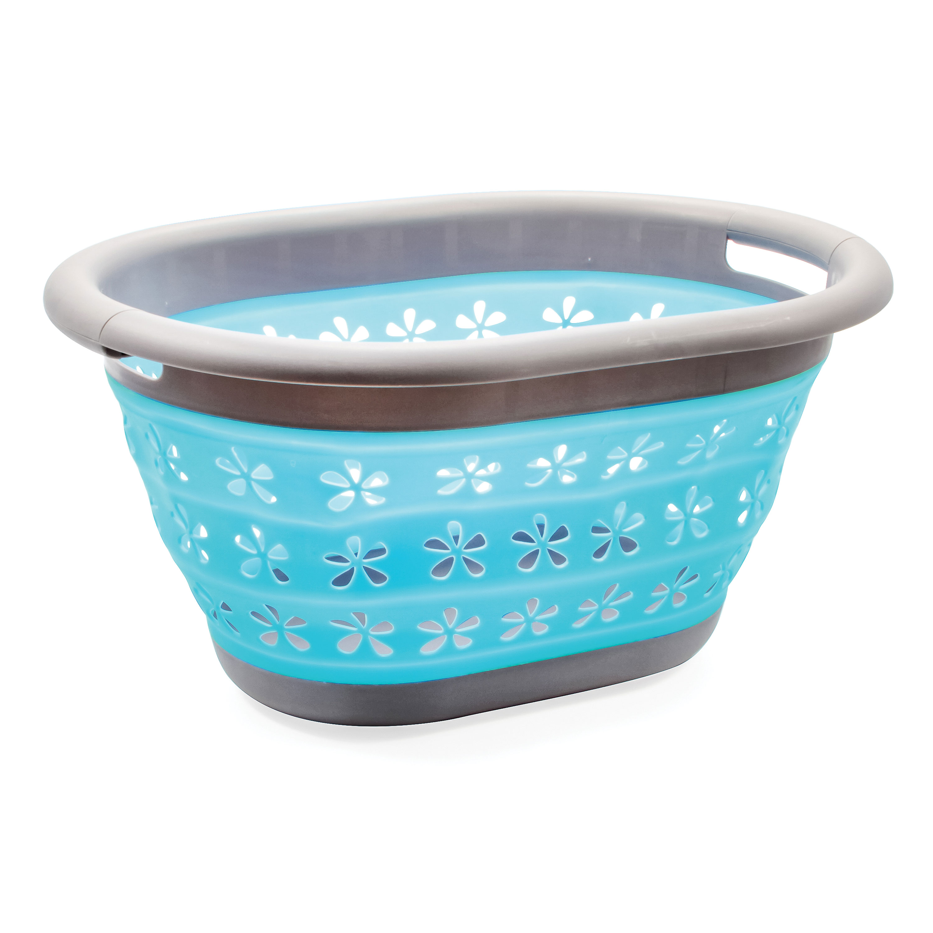 Camco 51902 Collapsible Utility Basket - Small, Gray/Teal