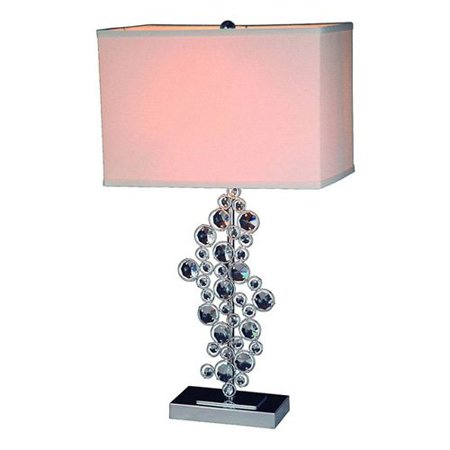 - Prismatic Crystal Sequin and Chrome Table Lamp
