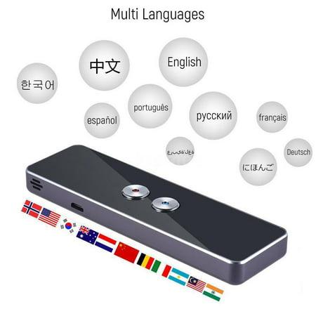 HERCHR Voice Translator, Bluetooth 2.4G Smart Pocket Interpreter Intelligent Real Time Speech Multilingual Translator, Precision Translator (Electronic Pocket Translator)