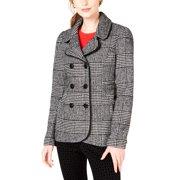 Maison Jules | Plaid Peacoat Jacket | Black | Size S