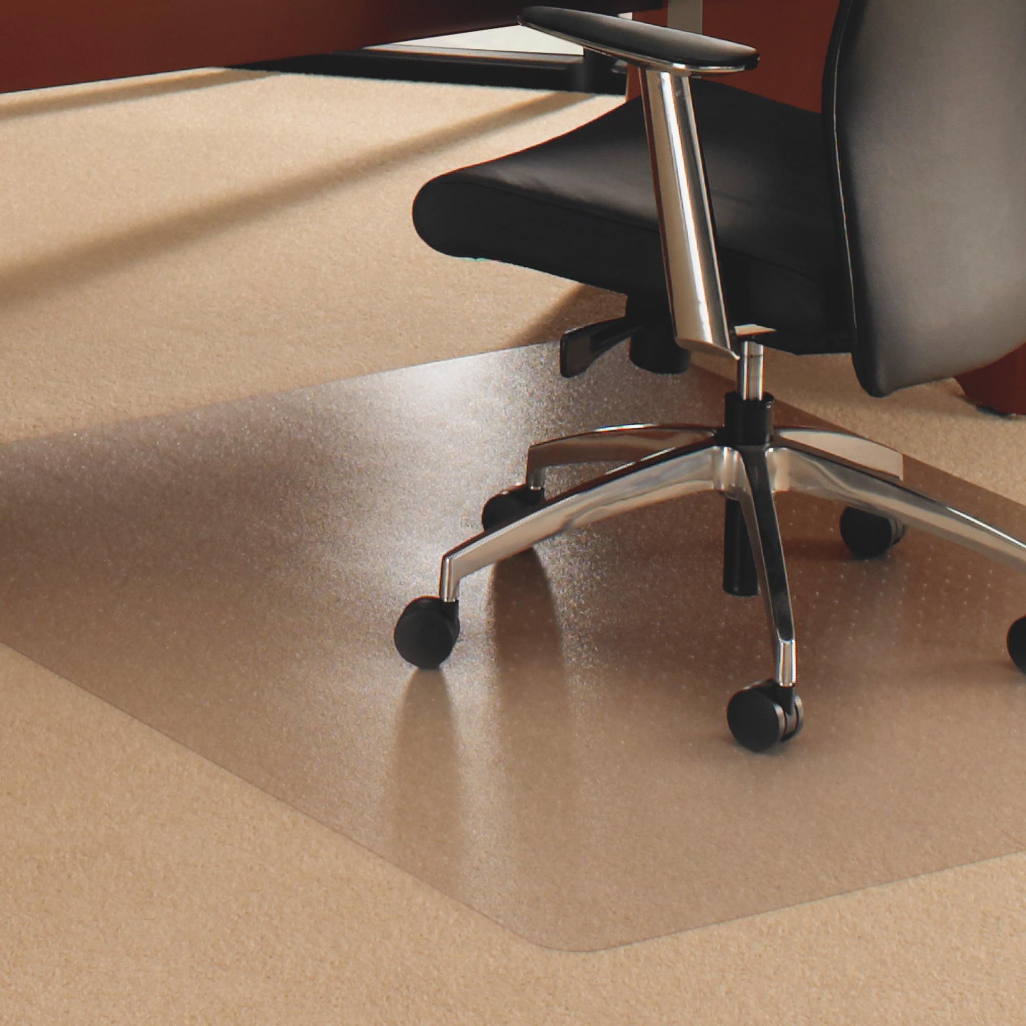 Cleartex, FLR1115020023ER, XXL Rectangular Floor Protection Chairmat, 1 Each, Clear