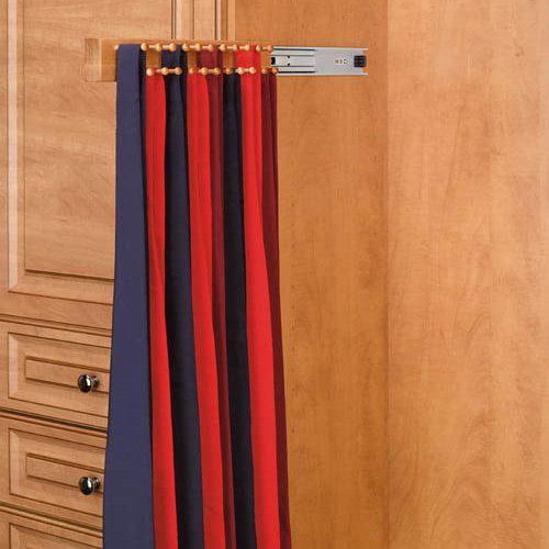 Rev-A-Shelf RCWSTR-14-1 14 in. Side Mount Maple Tie Rack