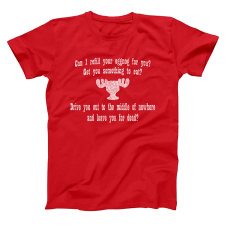 Can I Refill Your Eggnog? Moose Glass Small Red Basic Men's T-Shirt](Halloween Eggnog)