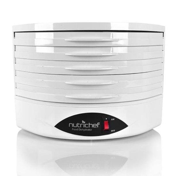 Nutrichef Pkfd18wt Kitchen Electric Countertop Food Dehydrator