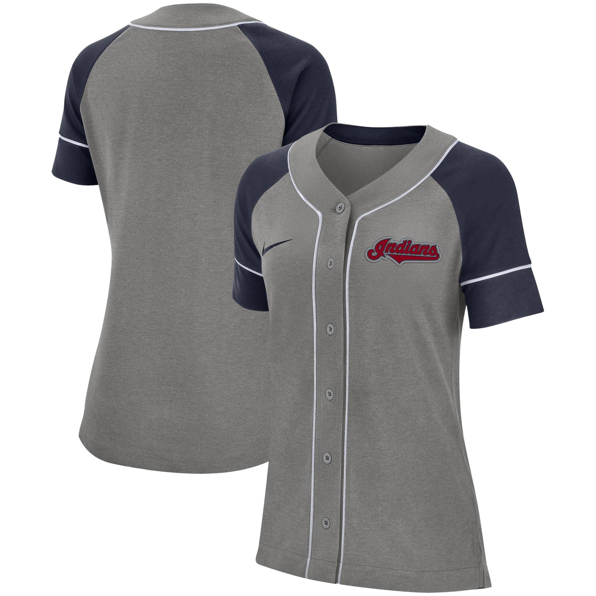 Cleveland Indians Nike Women's Classic Baseball Jersey - Gray