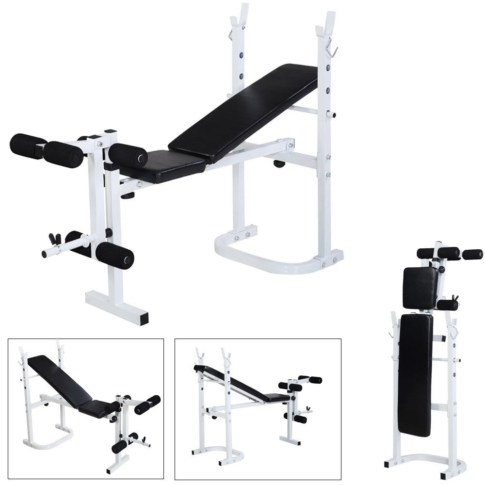 Zimtown Olympic Weight Bench Adjustable Multi Purpose Folding Incline Exercise Bench Weight