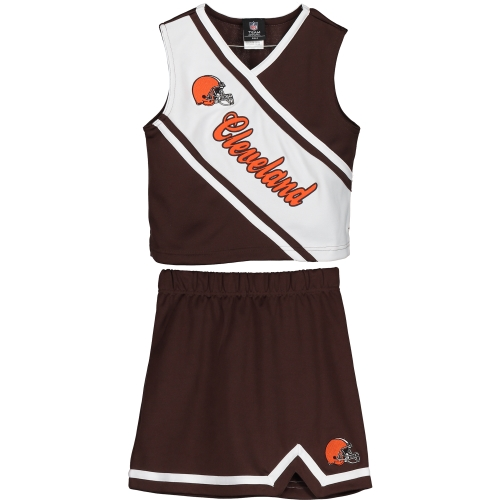 Cleveland Browns Girls Youth 2-Piece Cheerleader Set - Brown