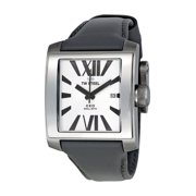 Mens Stainless Steel Case CEO Goliath Grey Leather Silver Dial Silver Watch - CE3001