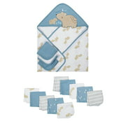 Wonder Nation Baby Boys Hooded Towel and Washcloth Set, 14-Pieces
