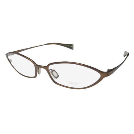 New Oliver Peoples Babs Womens/Ladies Designer Full-Rim Titanium Bronze High-end Gorgeous Trendy Titanium Frame Demo Lenses 53-17-130 Eyeglasses/Eye Glasses (Hcl Bronze Lens)