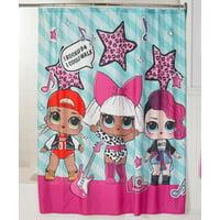 "L.O.L. Surprise! Kids Bathroom Decorative Fabric Shower Curtain, 72"" x 72"