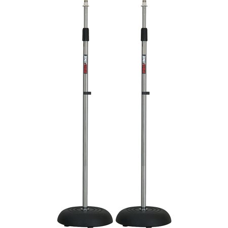Proline Ms235cr Round Base Mic Stand 2 Pack Chrome