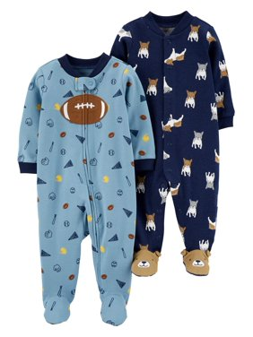 Child of Mine by Carter's Baby Boy Interlock Sleep 'N Play Pajamas, 2-Pack