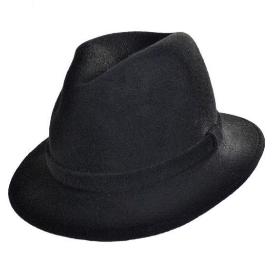 cf2422635fa90 Jaxon Hats - Made in Italy - Wool Felt Safari Fedora Hat by Barbisio - XL -  Black - Walmart.com