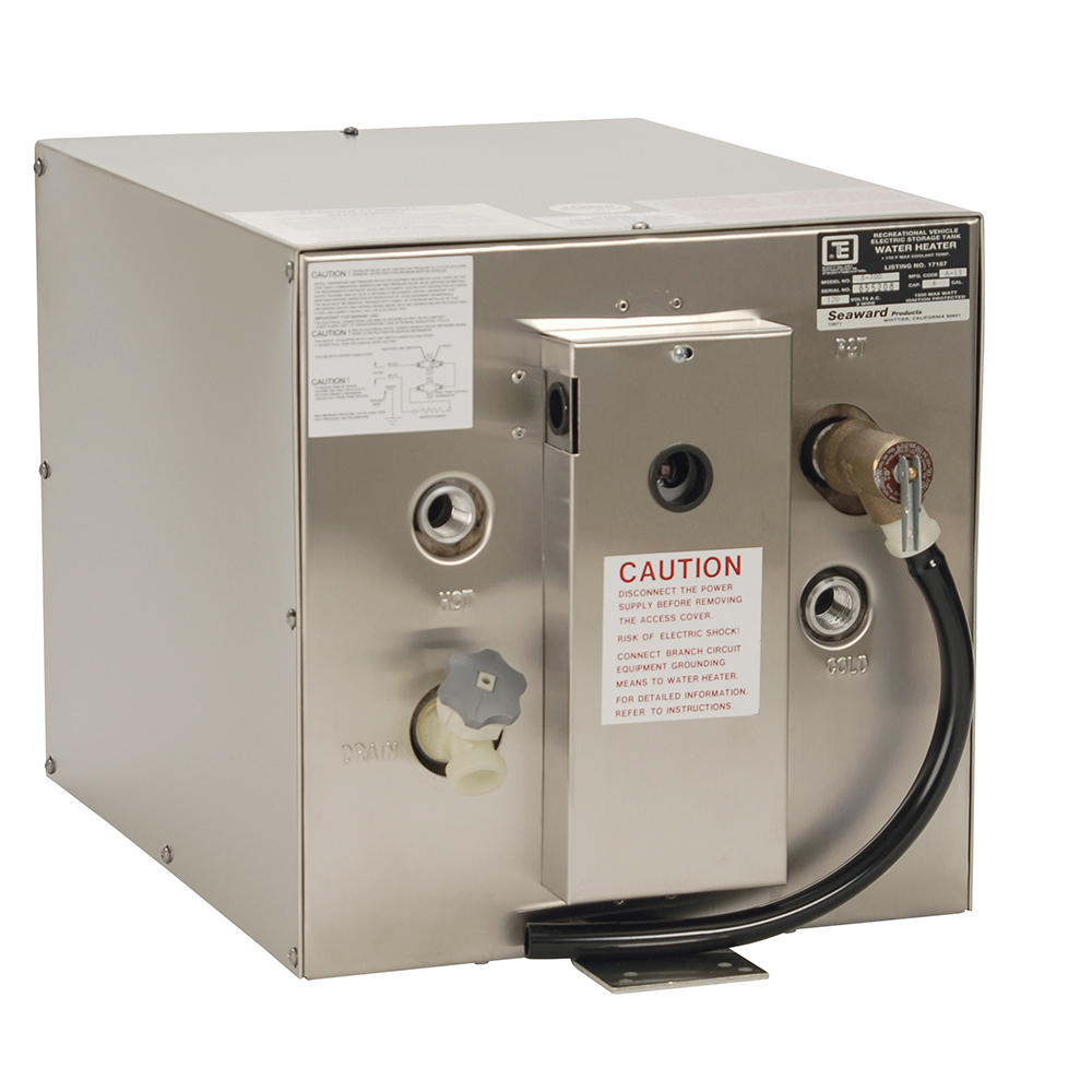 Whale Marine S750 Whale Seaward 6 Gallon Hot Water Heater W/rear Heat Exchanger - Stainless Steel - 240v - 1500w