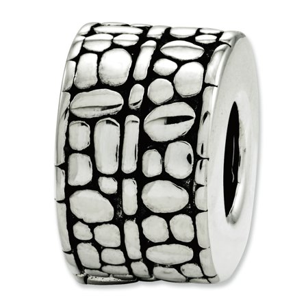 Sterling Silver Reflection Dots and Textured Bali Bead MSRP $82