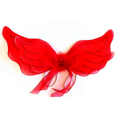 Baby 2-Layered Red Glitter Angel Wings](Baby Angel Wings)