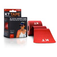 KT TAPE Original, Pre-cut, 20 Strip, Cotton - Red