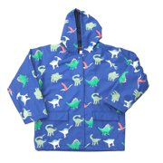 Baby Boys Blue Dinosaurs Rain Coat 1T