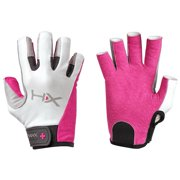 Harbinger HumanX Women's X3 3/4 Finger Competition Lifting Gloves - Pink/Gray