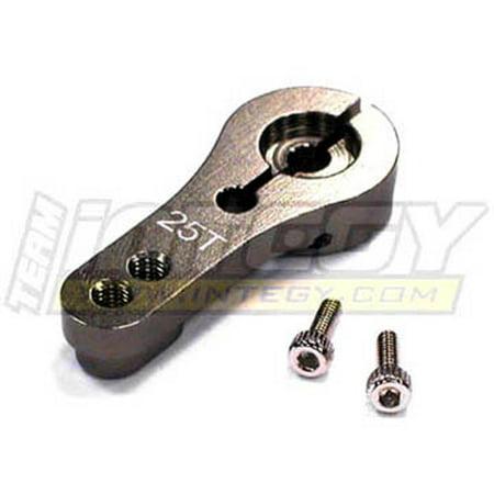 Integy RC Toy Model Hop-ups C22944GUN Alloy Servo Horn 25T for Futaba Servo (r=20, 24mm) (Integy 25t Servo Horn)