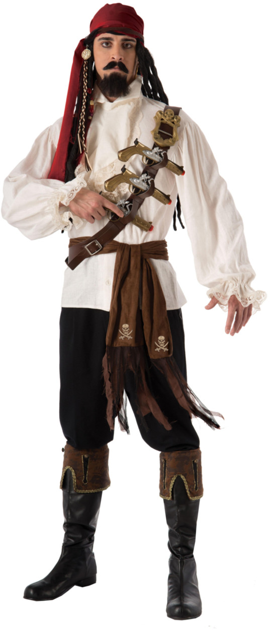 Adult Men's Caribbean Pirate Skull and Cross Bones Sash Costume Accessory by Forum Novelties