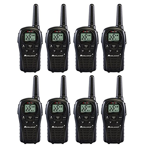 Midland LXT500VP3 2 Way Radio 8 PACK Plus Rechargeable Ba...
