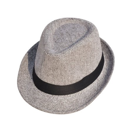 Women/ Men's Structured Wool Felt Blend Fedora Hat, Brown/white (White Felt Fedora)