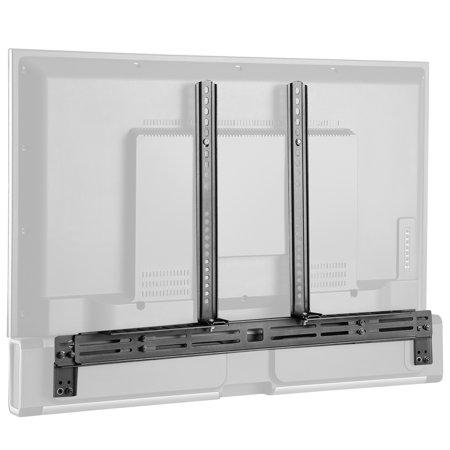 Black Mini Speaker Mount Bracket (VIVO Black Steel Universal Sound Bar Speaker Mount Bracket Holder   Above or Below Wall Mounted TV (MOUNT-SPSB3) )