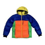 Ralph Lauren Polo Mens Color Block Puffy Jacket Multicolor 71077615-0001 New (M)