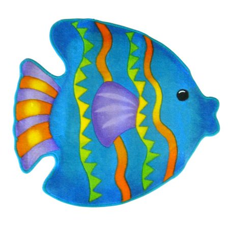 Fish playground bath rug for Fish bath rug