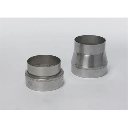 Lindemann 350348 4 to 8 Inch Galvanized Adapter - No Crimp - image 1 of 1