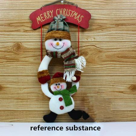 Christmas Wreath Christmas Snowman Hang The door Party Door Decor ()