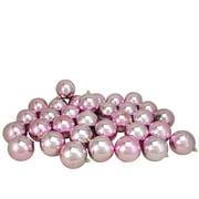"Northlight 32ct Shatterproof Shiny Christmas Ball Ornament Set 3.25"" - Pink"