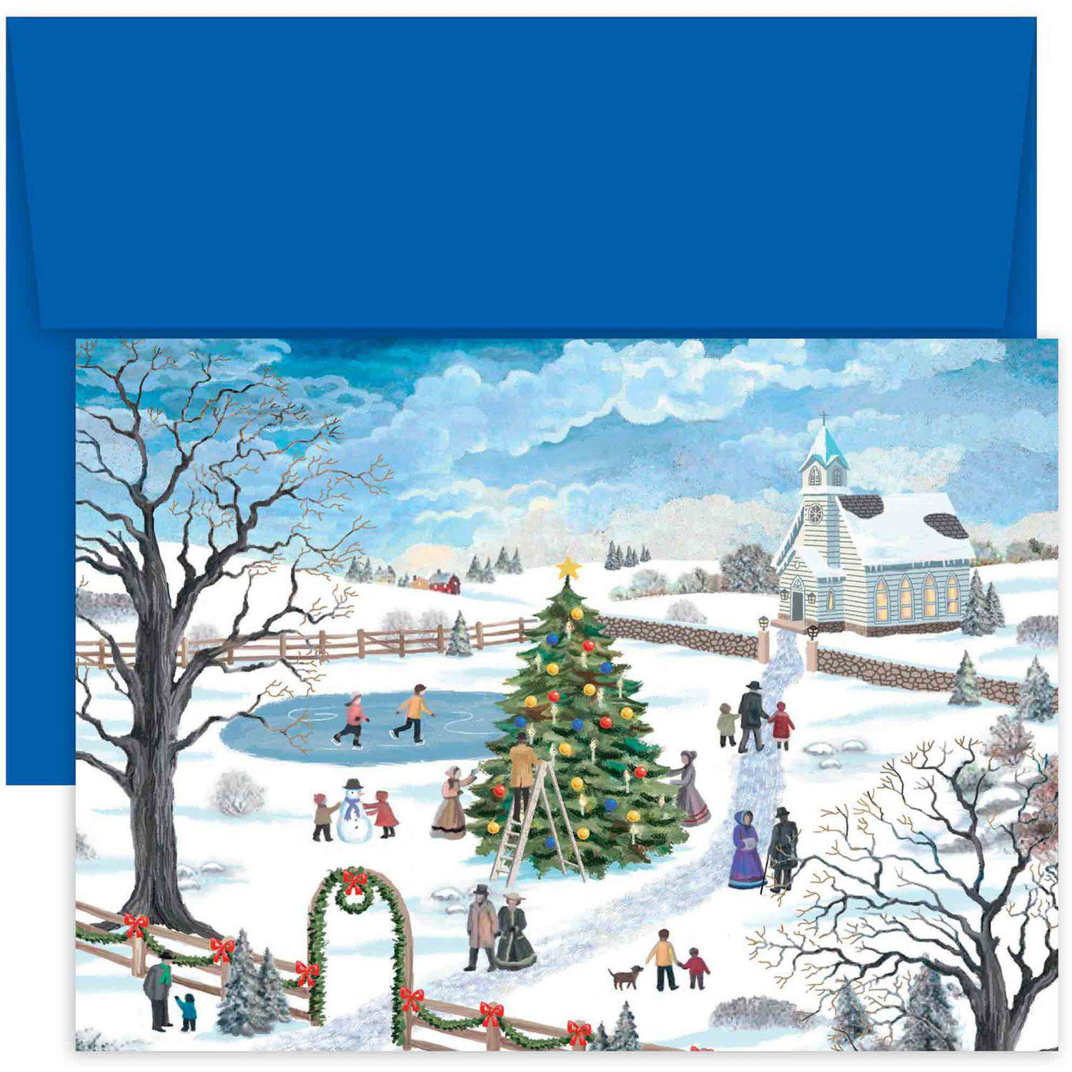 Masterpiece Studios Holiday Festivities Boxed Holiday Cards, Pack of ...