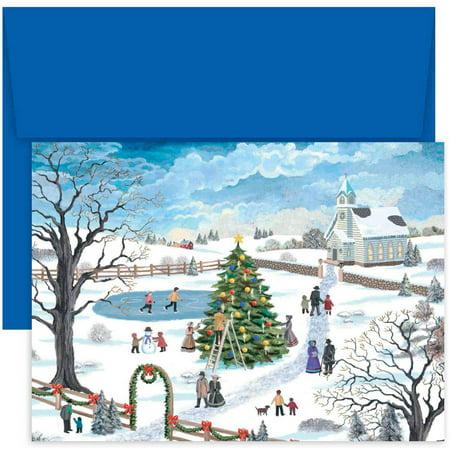 masterpiece studios holiday festivities boxed holiday cards pack of 18 - Boxed Holiday Cards