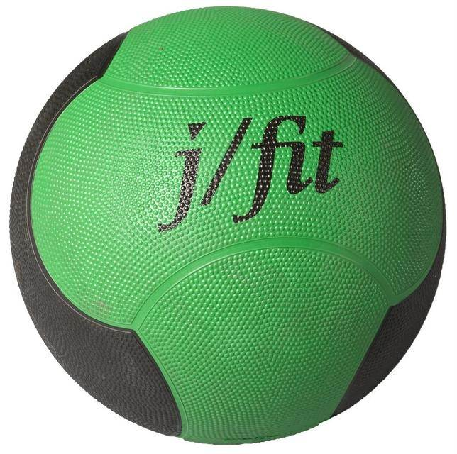 12 lbs. Premium Rubberized Medicine Ball in Green & Black