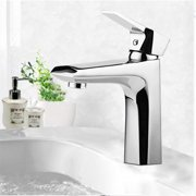 """6.69""""H Bathroom Faucet Single-Handle, Vanity Sink Faucet for Bathroom Sink Vessel Deck Mount, Single Hole Faucet with Mounting hardware, Brass Single-Handle, Lead Free, Chrome Finish"""