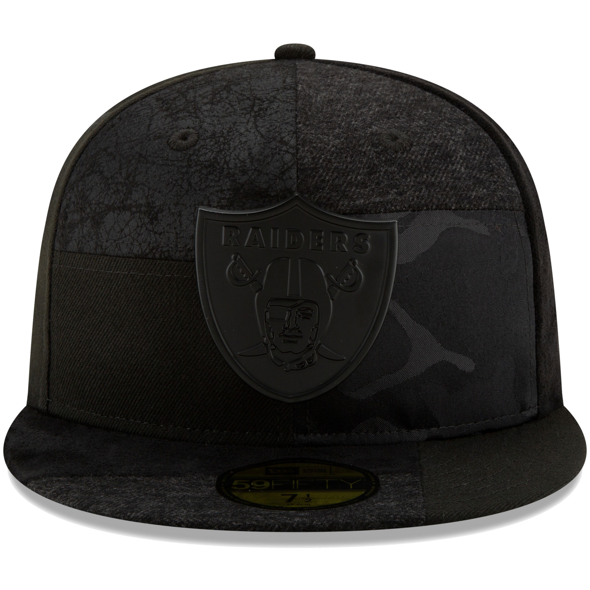 lowest price various colors discount shop Oakland Raiders New Era Premium Patched 59FIFTY Fitted Hat - Black ...