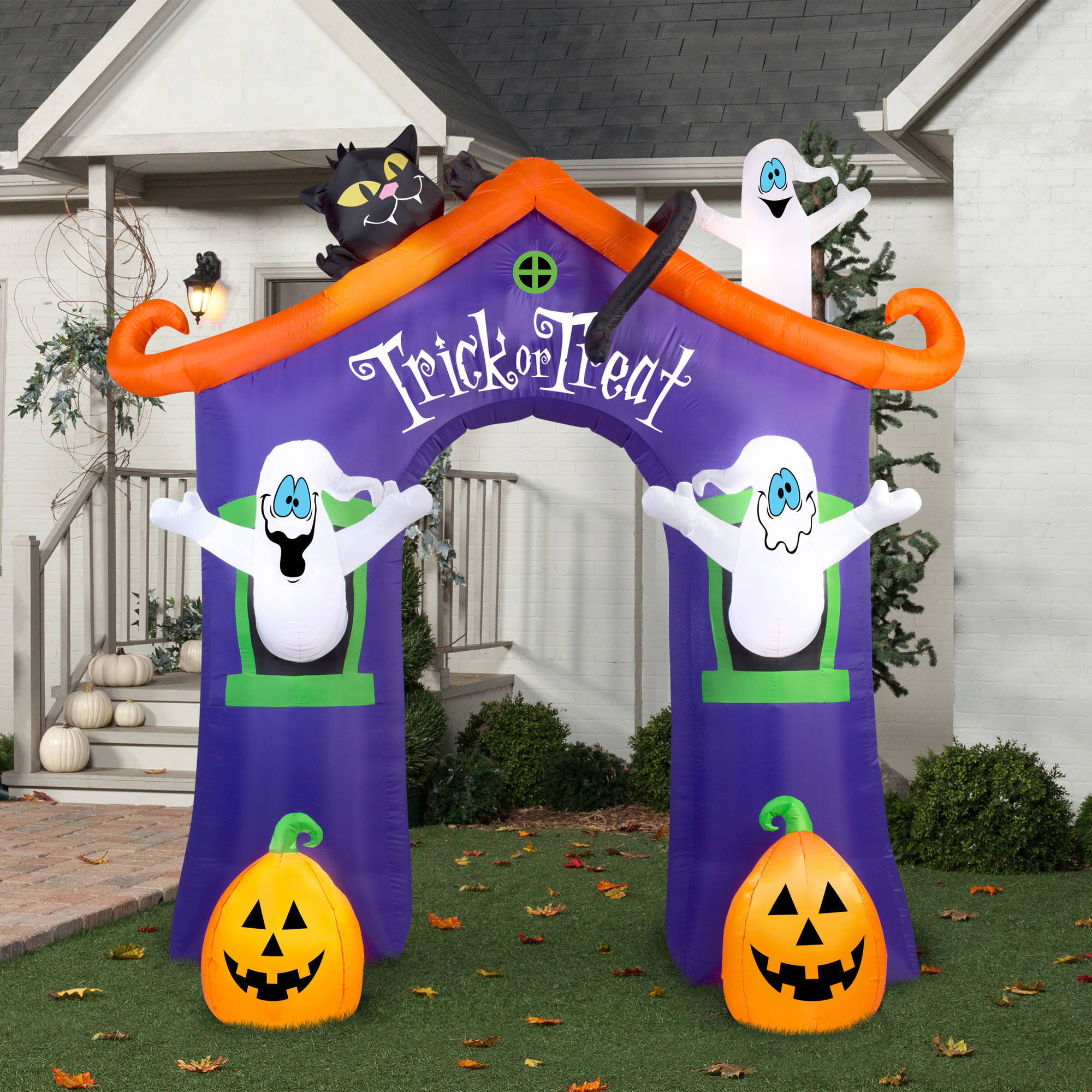 Gemmy Airblown Inflatable 9 X 8 5 Archway Ghost House Halloween Decoration