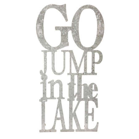 Go Jump in the Lake, 3-D Metal Wall Decor in Galvanized Metal Finish ()