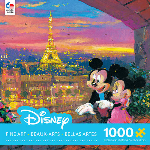 1000-Piece Disney Fine Art Paris Sunset Puzzle