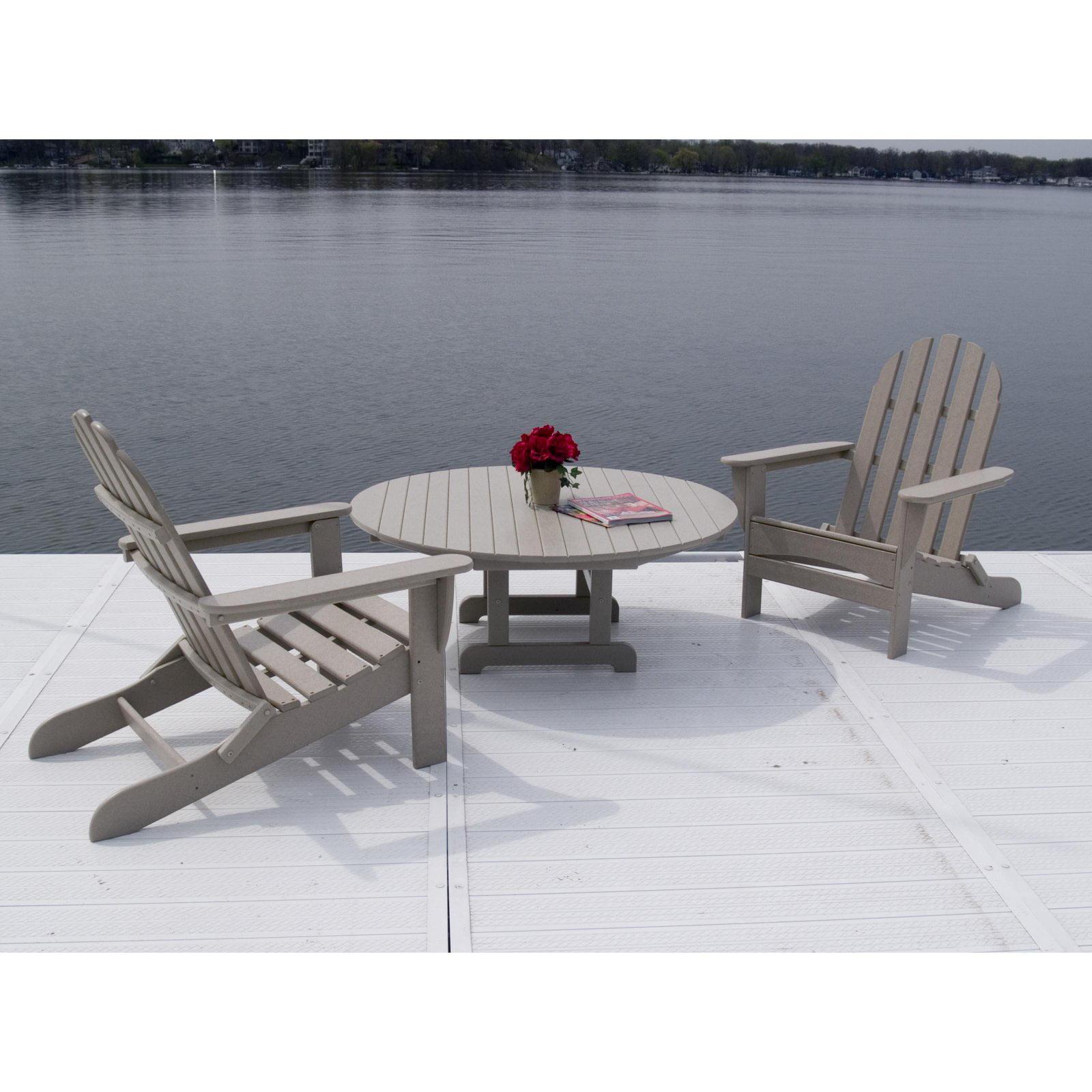 POLYWOOD® Curved Back Adirondack 3 pc. Conversation Patio Set